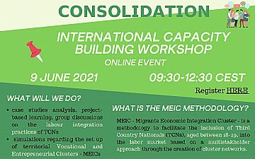 """Capacity Building Workshop """"Migrants' Labour Inclusion: Networks, Cluster Activation and Consolidation"""""""