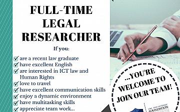 Open position at Law and Internet Foundation