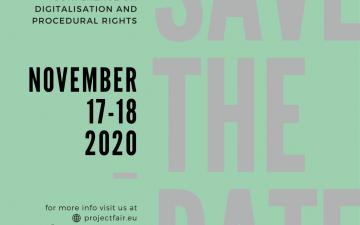 """""""Дигитализация и Процесуални права"""" онлайн конференция на проект FAIR"""