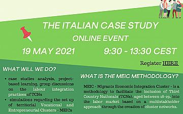 Capacity Building Workshop   Migrants' Labour Inclusion: Activation of Network and Cluster – the Italian case study.